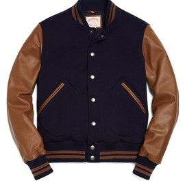Brooks Brothers - Brooks Brothers Bomber Jacket with Leather Sleeves US$ 498.00
