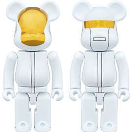 MEDICOM TOY - 超合金 BE@RBRICK DAFT PUNK (WHITE SUITS Ver.) 2 PACK