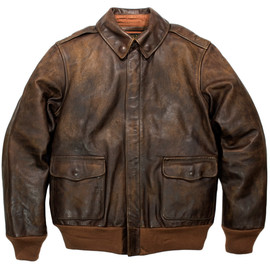 RRL - RRL A-2 LEATHER JACKET