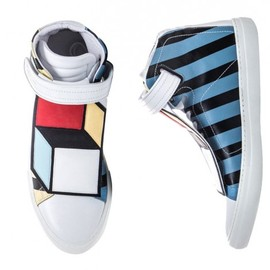 Pierre Hardy - Pierre Hardy Limited Edition Hi Top Sneakers Cube applique