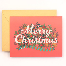 Clap Clap - NEW Merry Christmas Card for Holidays - Salmon Pink