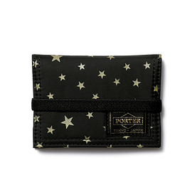 "HEAD PORTER - ""STELLAR (NEW)"" BAND CARD CASE BLACK"