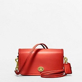 COACH - coach classic leather shoulder purse
