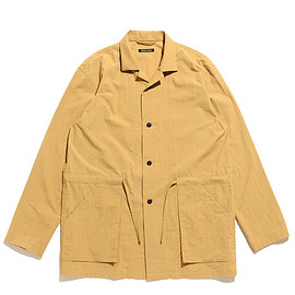 FRANK LEDER - Triple Washed Thin Cotton Shirt Jacket-Yellow
