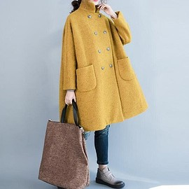 Wool jacket, womens jackets - women's coat, Wool Coat, double breasted Coat, winter Coat, oversized Coat