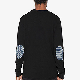 chinti and parker - STRIPE ELBOW PATCH SWEATER