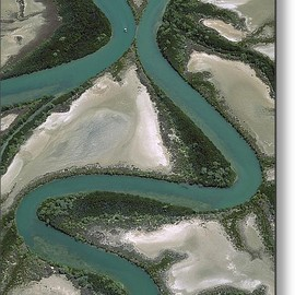 Fine Art America - Meandering Rivers, Gulf Of Carpentaria Metal Print By Jean-paul Ferrero