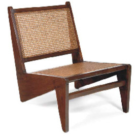 Pierre Jeanneret - Caned Rosewood Chauffeuse, ca 1960, Chandighar