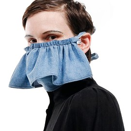 69 - Denim Ruffle Mask
