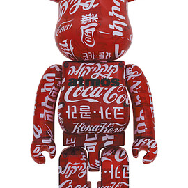 MEDICOM TOY - BE@RBRICK atmos × Coca-Cola CLEAR RED 1000%