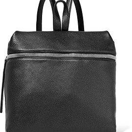 Kara - Large textured-leather backpack