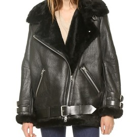 Acne - Velocite Shearling Moto Coat