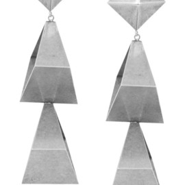 DANNIJO - Multi-triangle metal earrings
