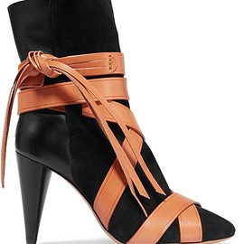 Isabel Marant - Nola suede and leather ankle boots