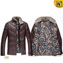 CWMALLS - Custom Quilted Leather Down Jackets CW818005 | CWMALLS.COM