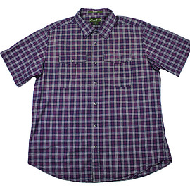 Eddie Bauer - Vintage Eddie Bauer Plaid Button Up Shirt in Navy/Pink Mens Size Large (Relaxed Fit)