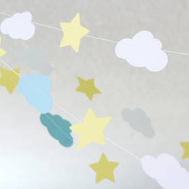 Star and Cloud Paper Garland