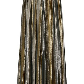 Alice + Olivia - Tabetha pleated silk-blend lamé maxi skirt