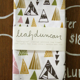 Leah Duncan - Image of Triangles Tea Towel
