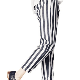 HOPE - NEWS TROUSER/GREY STRIPE