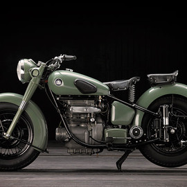 Vintage Sunbeam motorcycle - Sunbeam S7 and S8