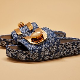Stella Luna - Stella Luna Paisley-Patterned Fabric Slides
