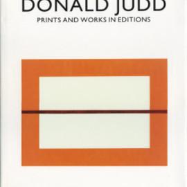DONALD JUDD - prints_and_works