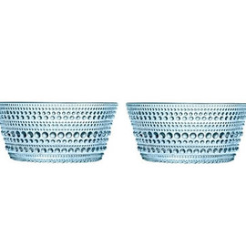 iittala - Dewdrop Platter (Light Blue S/2) by Oiva Toikka