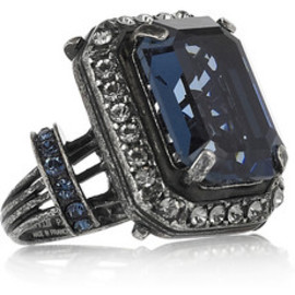 LANVIN - Glass and crystal ring