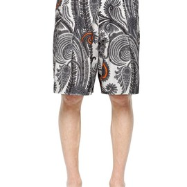GIVENCHY - PAISLEY COTTON TWILL BERMUDA SHORTS