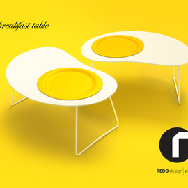 Redo Design Studio - Egg - breakfast table