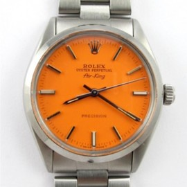 ROLEX - SS Airking Custom Colored Dial circa 1970′s
