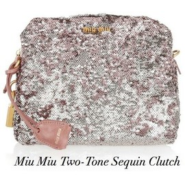 miu miu - Two-Tone Sequin Clutch