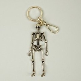 Alexander McQueen - Men's Brass Skeleton Key Ring