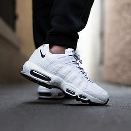 Nike - NIKE AIR MAX 95 WHITE/BLACK-BLACK