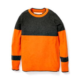 White Mountaineering - 2-TONE CREW NECK KNIT