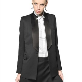 Givenchy - SILK LAPEL LIGHT WOOL JACKET
