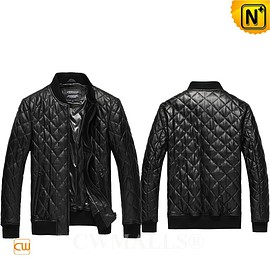 CWMALLS - Custom Leather Jackets   CWMALLS® Moscow Men Quilted Leather Jacket CW807026 [2018 World Cup Series]