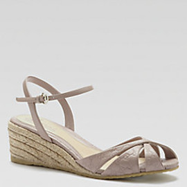 Gucci - Penelope Leather Espadrille Wedge Sandals