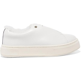 Eytys - Doja Arctic faux fur-lined leather sneakers