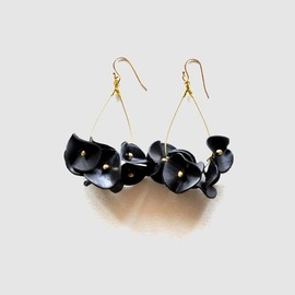 MION JEWELRY - black flowers