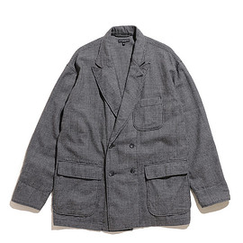 ENGINEERED GARMENTS - DL Jacket-Glen Plaid Houndstooth-Grey
