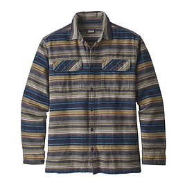 patagonia - M's Long-Sleeved Fjord Flannel Shirt, Folk Dobby: Navy Blue (FDNA)