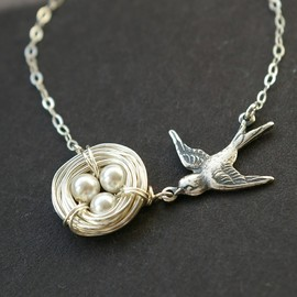 luxedeluxe - Birds Nest Necklace