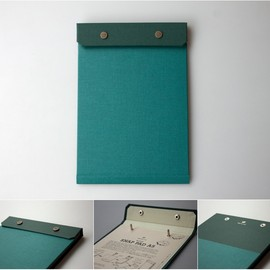POSTALCO - SNAP PAD A5 PEACOCK GREEN