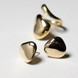 SASAI - Molten Stud Earrings Brass スタッズピアス
