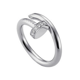 "Cartier - Platinum and Diamond Ring, ""Juste un Clou"" Collection"