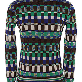 Jonathan Saunders - FW2015 Chocolate And Green Rene Jumper