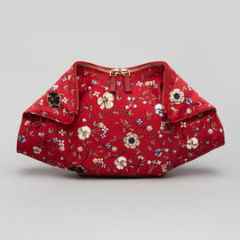 Alexander McQueen - De-Manta Floral-Print Clutch Bag, Red