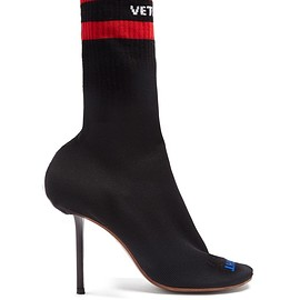 Vetements - SS2018 Logo-jacquard sock ankle boots